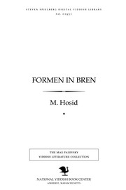 Cover of: Formen in bren