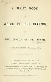 Cover of: A handbook on Welsh church defense