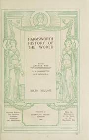 Cover of: Harmsworth history of the world