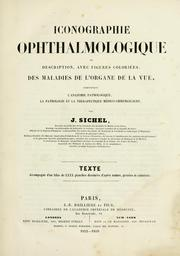 Cover of: Iconographie ophthalmologique