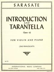 Cover of: Introduction and tarantelle for violin & piano, op. 43