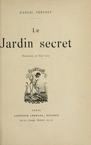 Cover of: Le jardin secret: [roman]