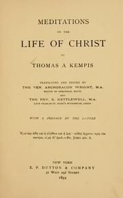 Cover of: Meditations on the life of Christ