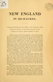 Cover of: New England in Milwaukee