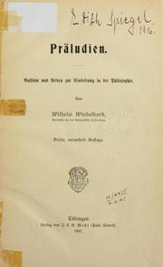 Cover of: Präludien
