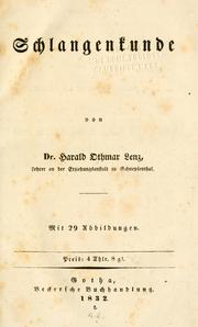 Cover of: Schlangenkunde