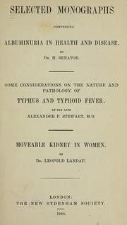 Cover of: Selected monographs