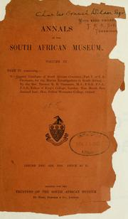 Cover of: South African crustacea