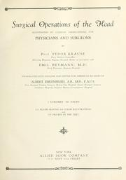 Cover of: Surgical operations of the head
