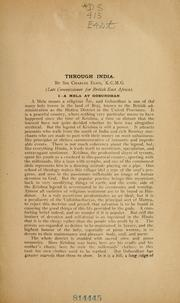 Cover of: Through India