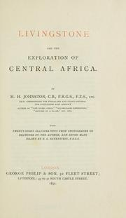 Cover of: Livingston and the explorations of Central Africa