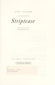 Cover of: Strip tease