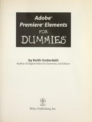 Cover of: Adobe Premiere Elements for Dummies