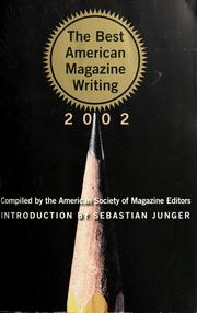 Cover of: The best American magazine writing, 2002