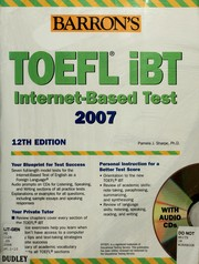 Cover of: Barron's TOEFL iBT internet-based test 2006-2007