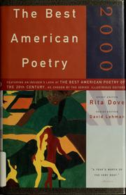 Cover of: The Best American Poetry 2000
