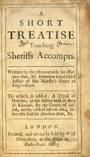Cover of: A short treatise touching sheriffs accompts