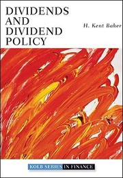 Cover of: Dividends and dividend policy