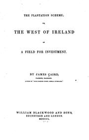 Cover of: The plantation scheme