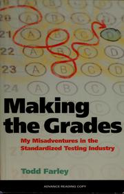 Cover of: Making the grades