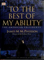 "Cover of: ""To the best of my ability"""