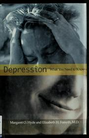 Cover of: Depression