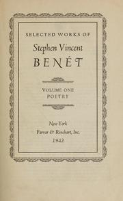 Cover of: Selected works of Stephen Vincent Benét