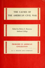 Cover of: The causes of the American Civil War