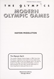 Cover of: Modern Olympic games