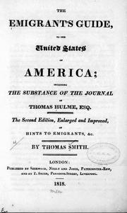 Cover of: The emigrants guide to the United States of America