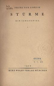 Cover of: Stürme