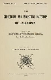 Cover of: The structural and industrial materials of California