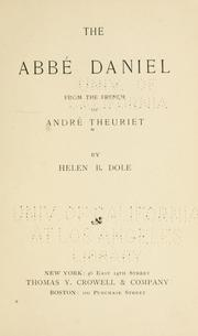 Cover of: The Abbé Daniel