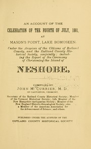 Cover of: An account of the celebration of the Fourth of July, 1881