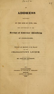 Cover of: An address delivered on the 28th of June, 1830