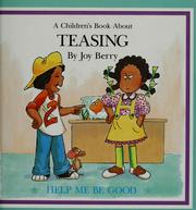 Cover of: A children's book about teasing