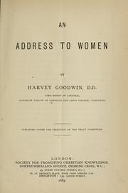 Cover of: An address to women