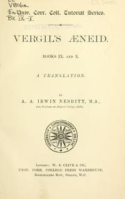 Cover of: Aeneid, Books IX and X