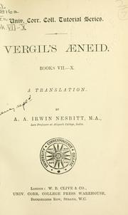 Cover of: Aeneid, Books VII-X
