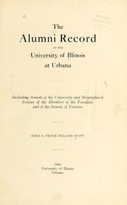 Cover of: The alumni record of the University of Illinois at Urbana