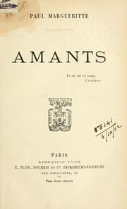 Cover of: Amants