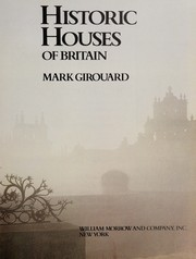 Cover of: Historic houses of Britain