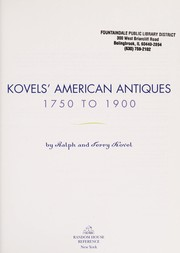 Cover of: Kovels' American antiques, 1750-1900