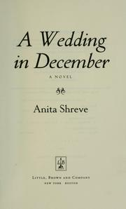 Cover of: A Wedding in December: a novel