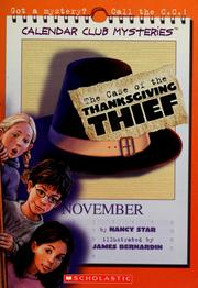 Cover of: The case of the Thanksgiving thief