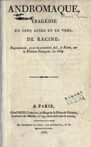 Cover of: Andromaque
