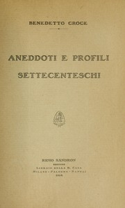 Cover of: Aneddoti e profili settecenteschi