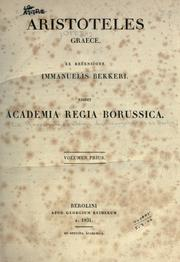 Cover of: Aristotelis opera