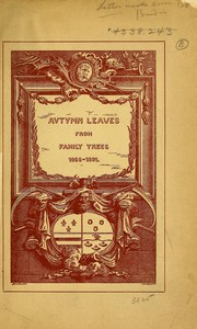 Cover of: Autumn leaves from family trees