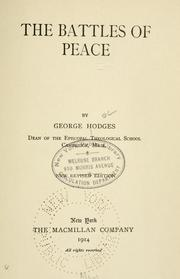 Cover of: The battles of peace